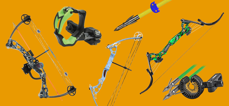 Oneida,AMS Bowfishing 3-Cajun Piranha Arrows w// slides Muzzy