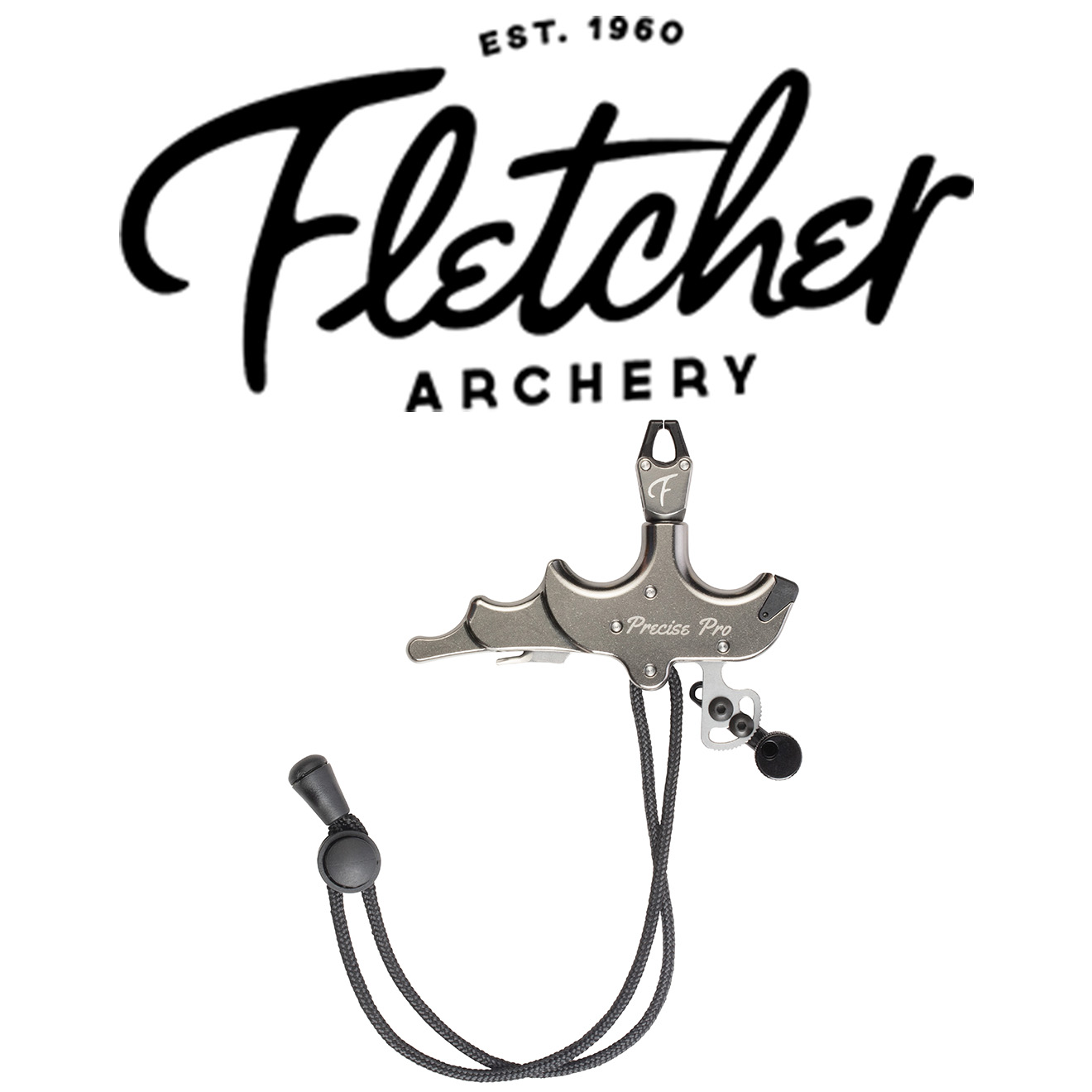New Fletcher Archery 10 Ring Caliper Index Finger Release Pewter Color